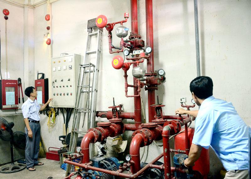 Quy trình bảo trì hệ thống chữa cháy